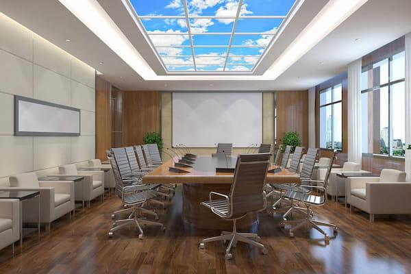 Panneau LED Plafond nuageux salle de réunion