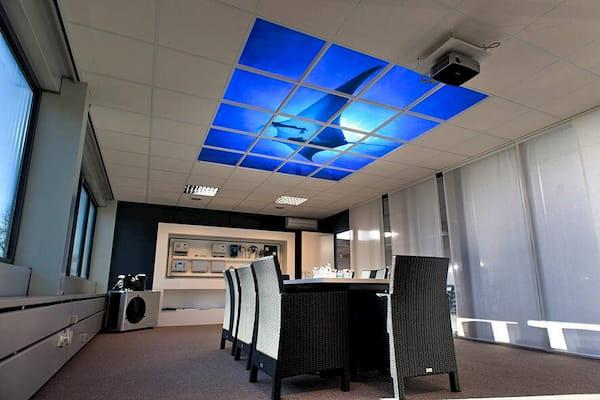 Plafond nuageux aquarium pour bureau