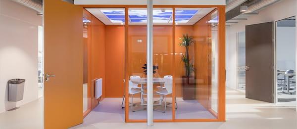 bureau plafond nuagueux panneau led
